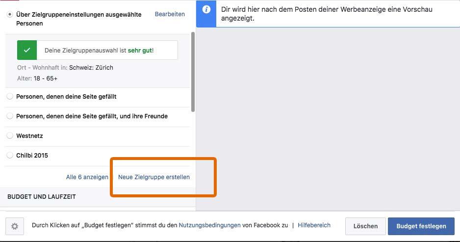 Facebook Werbung Andi Wullschleger